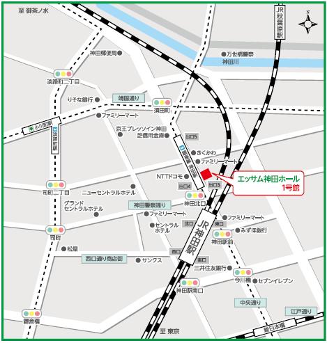 会場の地図:エッサム神田ホール1号館  7階702会議室